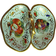 "*1840 - 1844:Autumn "" Still Life "" Porcelain Basket from the First KPM Factory"