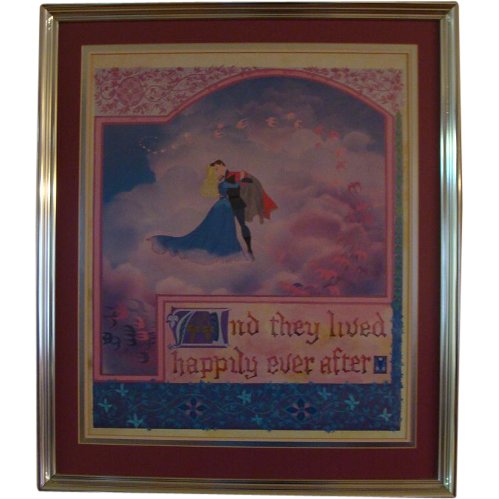 "**1970's: Vintage Disney's "" Sleeping Beauty "" Lithograph"