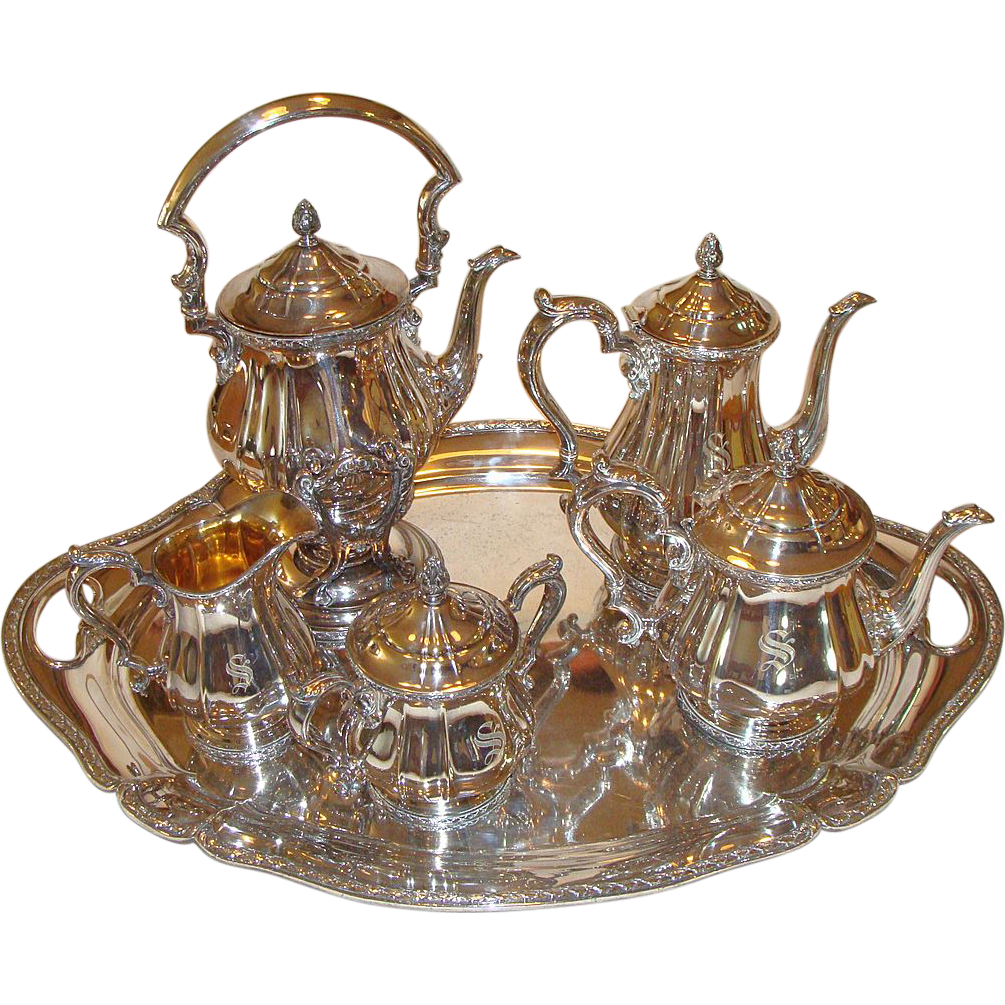 "Pre 1906: Gorham 7 Piece  "" High Tea "" ,Tea Set"