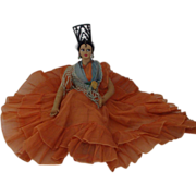 1930's;  Handmade Flamenco Dancer  Doll