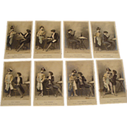 "Circa 1905: Threatre Study Postcard Set "" The Idylle Parisenne"""