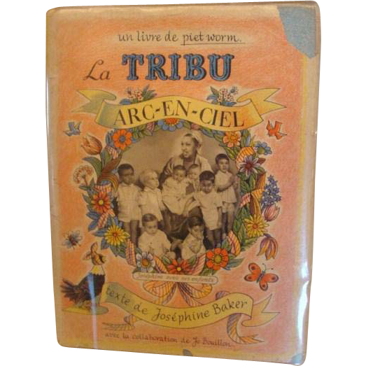 "1957: Signed First Edtion, "" La Tribu Arc-En- Ciel "" by Josephine Baker"