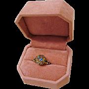 Victorian: Brilliant Optic True Iris Glass Ring