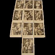 "Circa 1905: Saint Nicholas "" NOEL ""  Complete Postcard Set by Henri Manuel"
