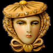 "Sylvia Massey Face Brooch "" An Edwardian Lady """