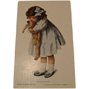 "1907: Original Bessie Pease Gutmann Postcard "" Love Is Blind """