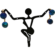 1960's: Vendome Double Disco Ball Drop Earrings