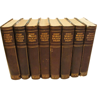 "1910: Scarce, First Editions, "" Every Womens Encyclopedia "" Complete 8 Volume Set"