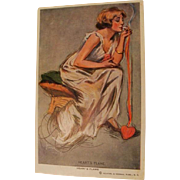 """1912: Signed Louis Mayer Postcard """" Heart's Flame """""""