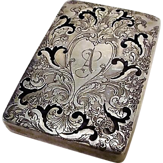 Circa 1890's: Sterling Silver Receiving Card or Scent Box