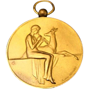 "Art Deco: French Bronze Medal Signed "" Raoul Benard """