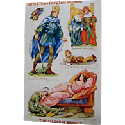"Father Tucks Fairy Land Panorama Series Postcard "" The Sleeping Beauty"""