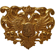"""!950's: Signed Miriam Haskell """" Coat of Arms """" Brooch"""