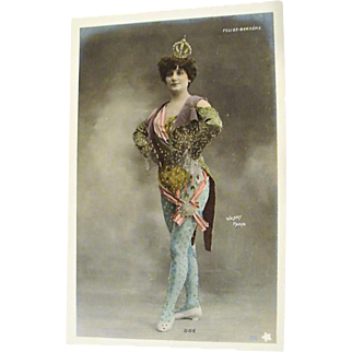 Folies Bergere ,Hand Tinted Postcard by Walery