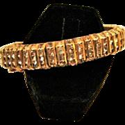 Circa 1949:  Sparkling Pave Set Rhinestone Braclet