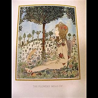"""1919: First Edition """" Flora """" by Pamela Blanco & Walter de la Mare"""