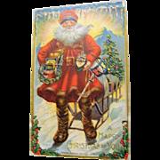 "Santa Postcard : "" Sunrise  at the North Pole """