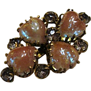 Victorian : Saphiret Hearts Brooch