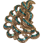 Breath Taking, Brillant Blue Brooch