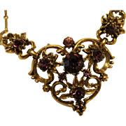 "Victorian Gothic Style  "" Coro "" Amethyst Chocker Necklace"