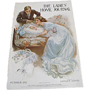 "1911: Original LHJ Cover "" Bundle of Joy "" by Harrison Fisher"