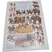 """1913:  C. Durand Chapman """" A Circus Cut Out For Children """" LHJ"""