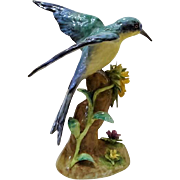 "Circa 1930: J. T. Jones Crown Staffordshire Bird Figurine  "" Bee -Eater """