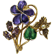 Sweetest Little Woodland Violet Pin / Pendent