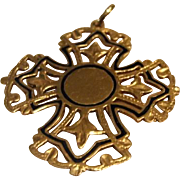 Divine 18K Solid Gold Cross