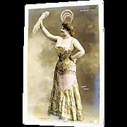 """Original Floies Bergere Postcard """" Eve' de Milo """"  Walery"""