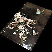 """Original Art Nouveau Fantasy RPP: """" Beauty & Butterflies """" Reutlinger"""