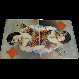 """Original Tuck's """" Queen of Diamonds """" Postcard"""