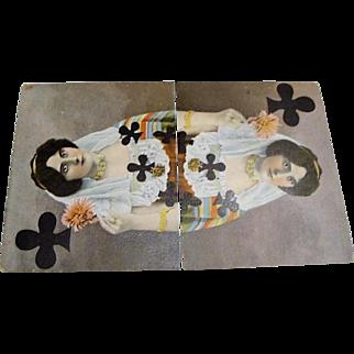 "Original Tuck's "" Queen of Spades "" Series No. 307B Postcard"