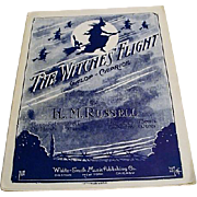 "1917: Sheet Music "" The Witches Flight "" by H. M. Russell"