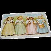 Circa 1900 : Estey Piano Company & Maud Humphrey Postcard