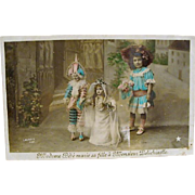 "irca 1910: ""  A Doll's Wedding "" Postcard"