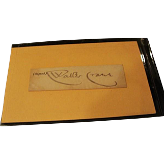 Authentic Clipped Signature of Walter Crane