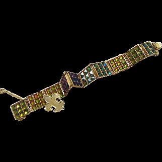 1960's: Very Rare Vendome Color Changing Pyramid Bracelet