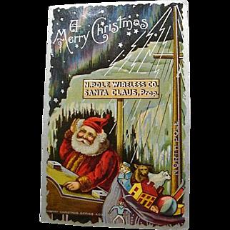 "1910: "" A Merry Christmas "" Postcard"
