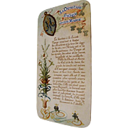 Circa 1880: Heavenly, Illuminated French Holy Card Prayer Booklet