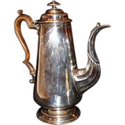 "Circa 1790:*Georgian Sheffield Coffee Pot with Engraved ""  Mermaid ""  by Matthew Boulton"