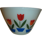 Fire King Tulips Mixing Bowl