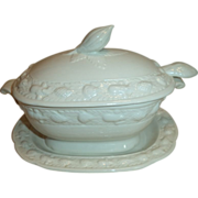 Early Adams Ironstone Small Saucer Tureen Ladle
