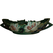 Super Green  Roseville Pottery Magnolia Console Bowl - Red Tag Sale Item