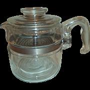 Vintage Pyrex Flameware 4 Cup Coffee Pot