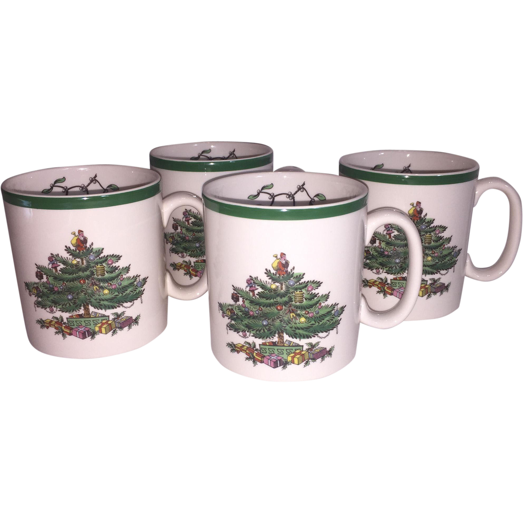 4 Spode Christmas Tree Coffee Mugs Sold On Ruby Lane