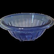 Cobalt Anchor Hocking Paneled Mixing bowl