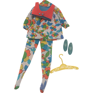 Fantastic Barbie Francie Mod Outfit Bloom Zoom # 1239 complete