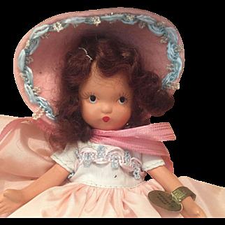 Nancy Ann Mondays Child Bisque Doll In Box
