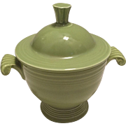 Vintage Fiesta Chartreuse Sugar Bowl